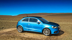 Audi A1 (Cars) (hypesol) Tags: bluecar fourwheeler smallcar audicar audia1 blueaudi renderedvehicle smallaudicar