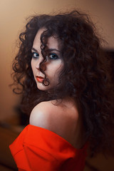 Martina (gzegosch) Tags: light red portrait woman white color cute colors girl beautiful beauty face fashion female hair model glamour eyes pretty colours dress natural image young indoor curly shooting caucasian 500px ifttt