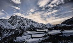 Himalayan sunset (Nicolas Bourque) Tags: nepal sunset sky mountain clouds contrast sony dramatic annapurna himalayas undersaturated a6000