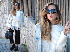 On Trend: Fringed Sweater by Claudia V., 25 year old journalist and advertising agent from Madrid, Spain (9lookbook.com) Tags: school winter urban white look fashion festival work office outfit cool spain moda platform style blogger sneakers business suit trends cap indie overalls culottes glam casual turtleneck chic oversized boho mode floralprint sporty flares denimjacket superga comfy baggy platformshoes hitops poloneck monkshoes streetstyle momjeans pencilskirt fauxfurcoat brogues flarejeans jeffreycampbell geometricprint oversizedcoat maxidress knitpants fringedleatherjacket snakeprintboots burgundyhandbag croppedflarepants fringedsweater rippedends trendencies whitedrapedcoat