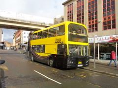 J200BTS Blackpool Transport number 366 on Bank Hey Street, Blackpool (j.a.sanderson) Tags: bus buses east blackpool daf lancs 366 db250 mylennium fmn501t j200bts