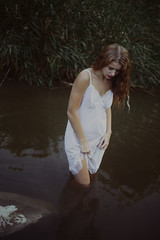 (Jillian Xenia) Tags: nature water dark photography moody emotion poetic expressive romantic delicate cinematic fragile ophelia womaninwater