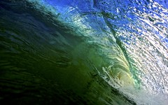 Amazing colours in the lip of this wave at Boat Harbour Beach (Lincoln Frank Allen) Tags: blue green beach water backlight coast boat sand surf waves colours harbour barrels offshore south tube australia cliffs coastline backlit epic wedge shorebreak surfphotos boatharbour waterphotography