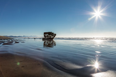 2016-01-10 - Peter Iredale Shipwreck-14 (www.bazpics.com) Tags: ocean sea usa beach water oregon america skeleton sand ship pacific or wave peter shipwreck frame hull wreck iredale