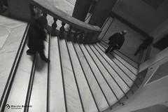 """""""Scie""""  Visita al Mann di Napoli  Museo Archeologico di Napoli (marziabertelli) Tags: scale mann museo mosso scalinata bwn archeologico"""