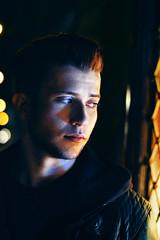 [ Bowie Lights ] (Arua Vue Photography) Tags: madrid boy art 50mm bowie spain model nikon amateur nikond3200 f18g aruavuephotography aruavue