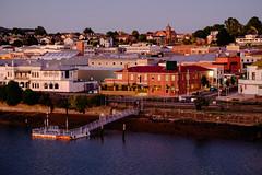 View of Devonport Tasmania (gazrad) Tags: morning sea colour water horizontal port river outdoors dawn town dock australia calm tasmania suburb mersey merseyriver devenport