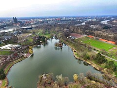 Rundflug im Stadtpark (FalkoMD) Tags: germany deutschland dom magdeburg stadtpark dji