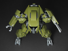 M251 Ridgway 3 (mondayn00dle) Tags: green robot tank lego military olive walker mecha bot mech