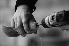 Craftmanship (zampination) Tags: bw white black hands crafts sony working m42 pentacon f4 craftmanship unprocessed 200mm a5100