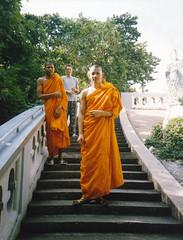 Monks, Golden Mount, Bangkok (Niall Corbet) Tags: orange thailand temple robe bangkok buddhist monk buddhism goldenmount watsaket