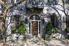 Meeting St. doorway (Mark Heine Photos) Tags: architecture us shadows unitedstates southcarolina historic charleston palmtree palmetto liveoaks markheine