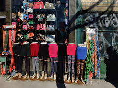Skirts & Shadows (geowelch) Tags: toronto chinatown urbanfragments fujifilmx10