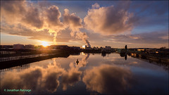 Sunset over Salford Quays (geospace) Tags: salfordquays