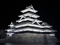 Matsumoto Castle (GothPhil) Tags: building tower castle monument japan architecture night march fort keep historical matsumoto floodlit naganoprefecture 2016 hirajiro daitenshu