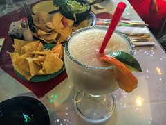 Margarita at Mi Tierra, San Antonio. (dckellyphoto) Tags: orange fruit sanantonio texas straw mexicanfood chips margarita guacamole lime texmex nachos mitierra 2016 producerow texmexfood