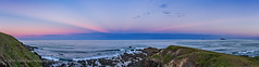 Panorama of Anti-Crepuscular Rays over the Ocean (Amazing Sky Photography) Tags: ocean sunset panorama twilight rocks waves australia nsw acr hdr atmospheric beltofvenus anticrepuscular woolgoolga earthshadow crepuscuarrays