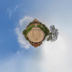Humayun-Mausoleum in Delhi (jeglikerikkefisk) Tags: travel panorama india delhi tomb mausoleum indien reise 360 sphericalpanorama humayun grabmal kugelpanorama littleplanet sphrischespanorama