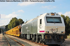 Pursuit of the train (I) (Adrin Valencia Martnez) Tags: valencia diesel 333 prima opel renfe estivella mercancias alsthom vossloh cdea portacoches