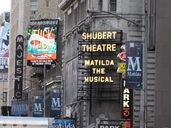 New York City 2016 Theater District Shubert (wheeltoyz) Tags: new york city apple sign rock square big cafe theater neon manhattan district hard matilda times phantom majestic tuck everlasting shubert