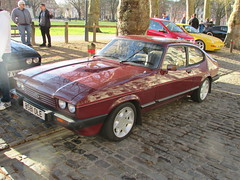 Ford Capri 2.8 Injection Special B581OLE (Andrew 2.8i) Tags: bristol breakfast meet queen queens square avenue drivers club ford capri 28 injection special fast classic car sports coupe hatch sportscar red redcar