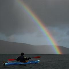 Course set for the rainbow's end (Jan Egil Kristiansen) Tags: rainbow kayaking faroeislands trshavn img4306 bluekayak daggerseeker redpaddle
