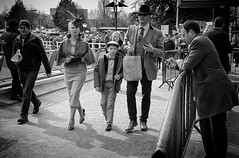 Family day out (Steve Greene Photography) Tags: street family people urban blackandwhite monochrome candid streetphotography races cheltenham nikond40
