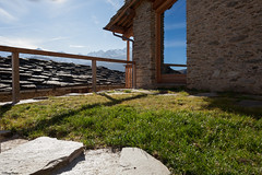 casa di montagna (Clay Bass) Tags: autumn light mountains green natural stones canon5d 24mm baita ostana