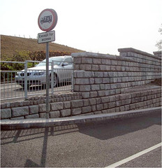 Redi-Rock_cobblestone-freestanding-roadway-CPM-StaffordshireRoad2 (redirockphotodatabase) Tags: road uk car unitedkingdom outdoor caps cobblestone freeway cpm staffordshire roadway retainingwall retainingwalls redirock freestandingwalls cpmgroup highwayapplication ukretainingwall ukretainerwalls