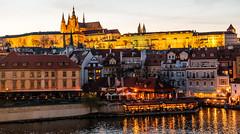 Prague castle (alh1) Tags: city tourism spring prague praha nightshoot czechrepublic charlesbridge vtlavariver