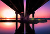 Raavi (Fortunes2011.) Tags: bridge sunset sun reflection water lines ravi pillars lahore fortunes2011nikon