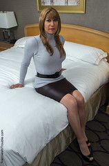 Aniticipation (Amanda Bound) Tags: stockings highheels turtleneck pantyhose tranniesintrouble sweaterbondage tgcd