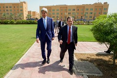 Secretary Kerry Walks With U.S. Ambassador to Iraq Jones Before Meetings With Iraqi Leaders in Baghdad (U.S. Department of State) Tags: iraq baghdad johnkerry stuartjones