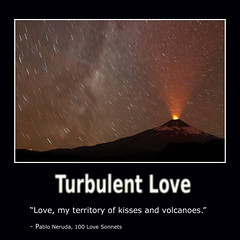 Villarrica Volcano Chile (Delphinidea) Tags: love nature word volcano words text kisses eruption quotation turbulence pabloneruba