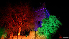 Colors 6 | Farben 6 (jensfechter) Tags: trees light color colour tree colors night contrast river lights licht colours nacht illumination elements difference opposites fluss rhine kontrast rhein farbe bume baum beleuchtung burg lichter bingen gegenstze klopp fotorahmen unterschiedcastle