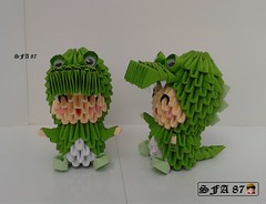 Crocodile Kid Origami 3d (Samuel Sfa87) Tags: kids paper 3d kid origami suits child alligator suit sfa crocodile bimbo papel childs carta artisan papercraft bimba bambino crocodilo arteempapel fantasiado aligatore blockfolding origami3d sfaorigami sfa87 arteconlacarta