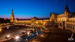 Plaza de Espaa (anoopbrar) Tags: barcelona madrid plaza longexposure travel blue light sunset espaa building architecture night clouds sunrise buildings golden spain europe artistic towers angles historic adventure spanish hour bluehour plazadeespaa goldenhour darkclouds goldenlight cloudsstormssunsetssunrises