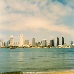 The San Diego (methezer) Tags: ocean california city vacation color film skyline analog sandiego kodak outdoor daytime coronado