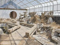 Trumbauer Gardens (Jonnie Lynn Lace) Tags: abandoned japanesegarden ruins decay greenhouse peelingpaint derelict decayed decaying modernruins naturetakesover abandonedgreenhouse chasinglight abandonedamerica