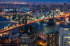 Brooklyn bridge (Andrew Thomas 73) Tags: nyc bridge newyork brooklyn river twilight nikon manhattan east bluehour d810