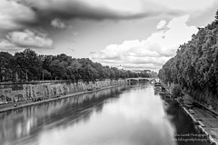 Tevere River from Ponte Sisto (Fabio Gentili Photography) Tags: bw white black rome roma olympus bn ponte tevere lungotevere sisto zuiko714 omd5