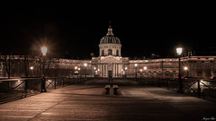 Pont des cadenas disparus (Morgane Klber) Tags: city longexposure nightphotography bridge paris architecture night lights cityscape