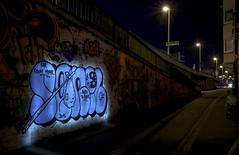 Schaumburg: Blue Senil  Night-Pieces BXLV - 1168x (Jupiter-JPTR) Tags: germany graffiti bonn character nightshots ha messages cf nightvisions jptr streetworks senil bridgeworks cityvisions nightbridges nightpieces hacf bnarea