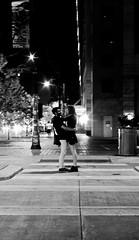 Hugs (Leon Sammartino) Tags: street blur love monochrome night drunk austin grit couple dress grain skirt lovers latenight sxsw short hugs