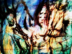 Paradise Every Time (revansj) Tags: she horse abstract bird art pen paper eyes closed paint paradise dragon coldplay time her every expressionism crayon revansj