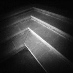 3 steps (rustman) Tags: blackandwhite bw square iso3200 grain 11 pinhole worldwidepinholephotographyday 22mm gf1 f128 dynamicblackandwhite panasoniclumixgf1 pinwide wanderlustpinwide
