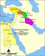 Overview map of the Ancient Near East in the 15th c. BC (Middle Assyrian period) (mike catalonian) Tags: ancient map egypt mesopotamia ancientmiddleeast