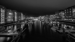 -Nidelven- (Erik_Chavez) Tags: longexposure nightphotography travel norway night boats boat norge blackwhite view sony trondheim hdr nidelven visitnorway visittrondheim visitmytrondheim