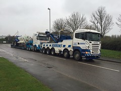 Burrows Recovery Recovering Low Loader (Burrows Recovery) Tags: truck low vehicle loader heavy recovery scania burrows rotator r480 fj59bbz