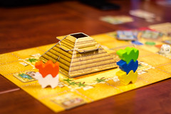 camel up for camel cup (kevin.boyd) Tags: playing game cup up table pieces pyramid board camel stacking boardgame camels stacked tabletop